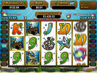 Sunken Treasure slot game online review