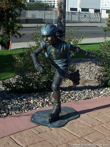 Rollerblading Child Statue - Bismarck, North Dakota