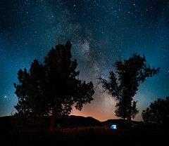 Light Years (kern.justin) Tags: park camping trees light sky night river way stars nikon little north tent roosevelt explore national missouri cottonwood planets years jupiter milky frontpage dakota theodore polution d700 kernjustin wwwthewindypixelcom