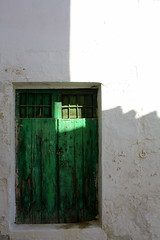 """And as the summers ending the cold air will rush your hard heart away"" (mermiller) Tags: door light shadow spain puerta teal andalucia espana keyhole locked archidona"