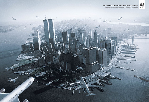 The WWF Tsunami print ad by DDB Brasil