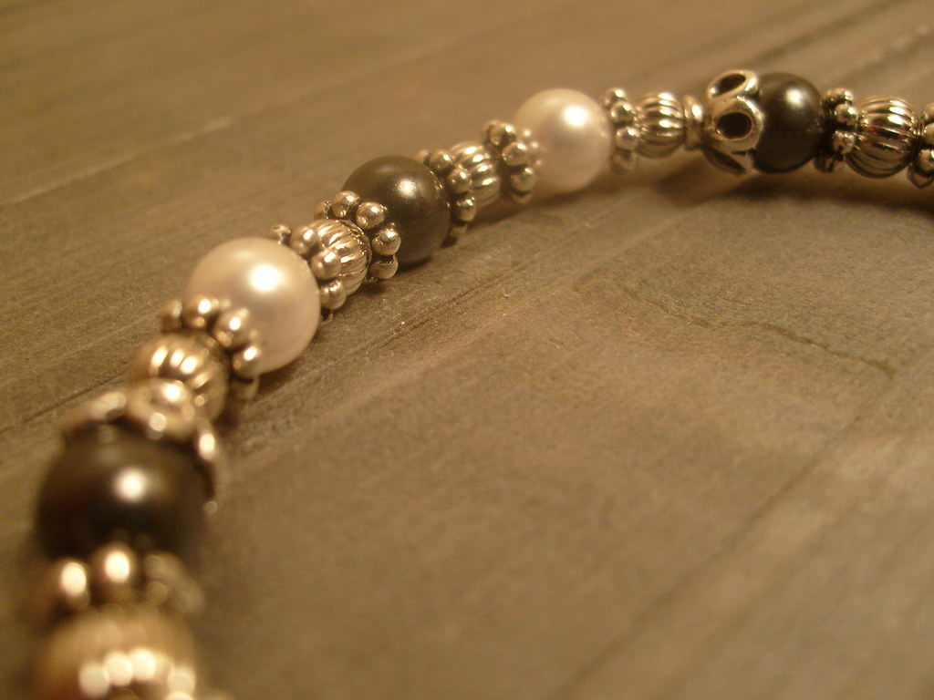 Pearls In Shades of Gray Bracelet