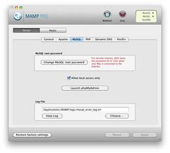 MAMP PRO - Server - MySQL