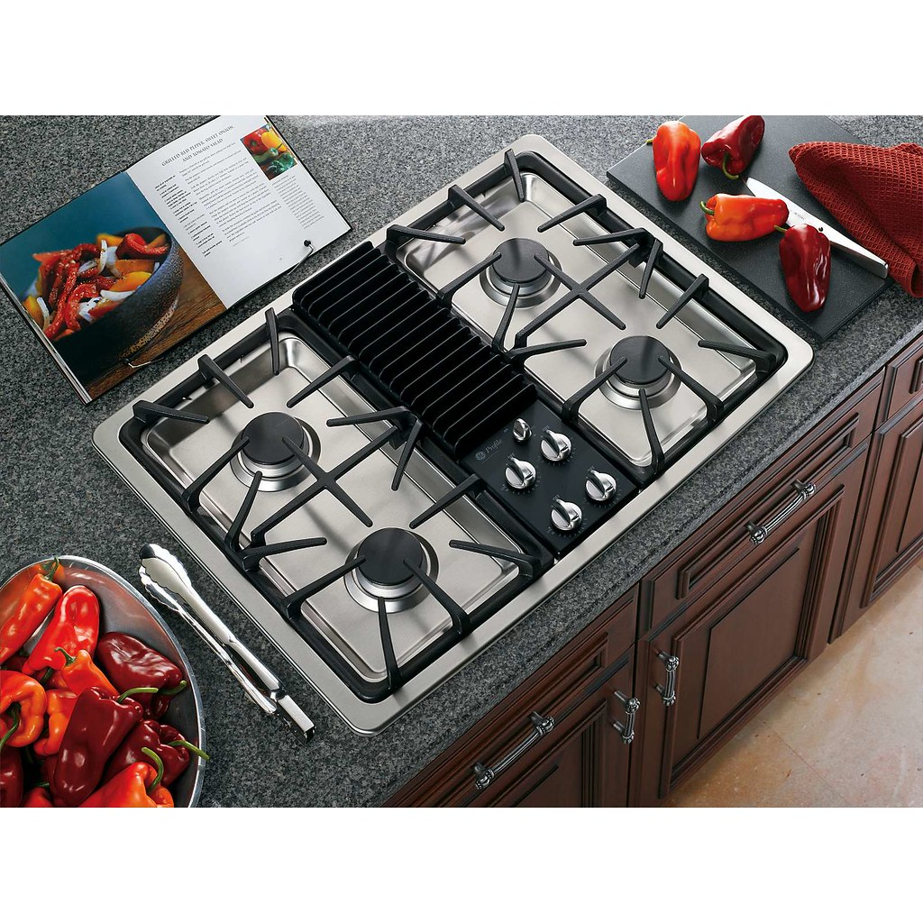 GE Profile Stainless Steel 30 in X 21-3/4 in.. Built-In Modular Gas Cooktop  $1215.49
