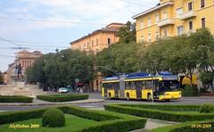 filosnodato n° 27 in largo Garibaldi - linea 7 (Alefilobus) Tags: italy trolley modena trolleybus autodromo filobus 18m filobusinitalia filobusmodena busotto