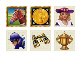 free Derby Dollars slot game symbols