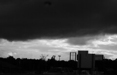 drive home in black and white (SnapShotStar) Tags: blackandwhite cloud storm sunshine weather clouds outside daytime thunderstorm nowthatssky thecloudappreciationsociety 10millionphotos