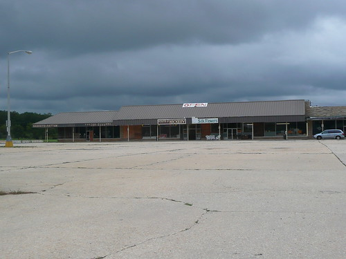 this deserted shopping area was amazing.
