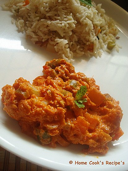 Easy Vegetable Makhanwala