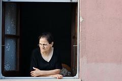 l'affaccio (gufino (out for awhile)) Tags: sardegna donna italia finestra sguardo processione affaccio disapprovazione villaputzu