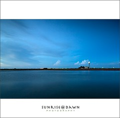 Blue Night @ Cigu   01 (Explore Oct 3, 2009 #92) ( SUNRISE@DAWN photography) Tags: blue red sea sky cloud white seascape water canon reflections landscape horizon taiwan wideangle symmetry  tainan    radar       chigu       taiwanlandscape sunrisedawn     saariysqualitypictures  coth5   gettyimagestaiwanq1 gettyimagestaiwanq2 gettyimagestaiwan12q3 gettytaiwan12q4 gettytaiwan13q1 gettytaiwan13q2 gettytaiwan13q3 taiwanseascape gettytaiwan14q1