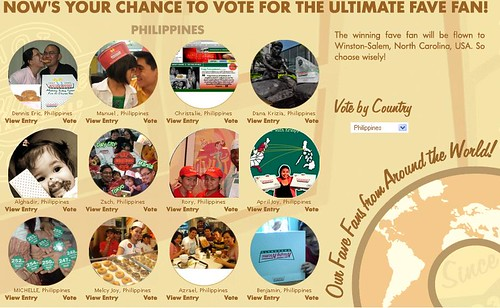 Vote now! for your Krispy Kreme Fave Fan of the Philippines