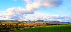 The Pentlands from Leadburn
