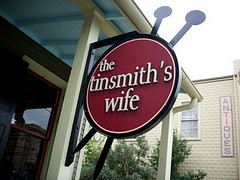 The Tinsmith's Wife Signage
