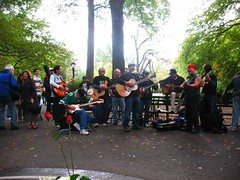 Band Singing Beatles Songs in Central Park (aprilbaby) Tags: nyc newyorkcity travel musicians manhattan october9 beatlessongs johnlennonbirthday