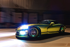Menacing Slithering (ojsantiago21) Tags: longexposure motion green night speed glow photographer skin snake cincinnati automotive rig dodge viper hid ssg manfrotto hre avenger magicarm rt10 automotivephotographer rigshot ojsantiago