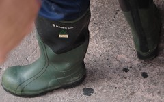 RUBBER BOOTS (cowboyboots_12) Tags: man men guy jock work boot construction boots guys rubber stud rubberboots