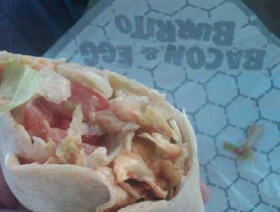 Macho Bacon and Egg Burrito