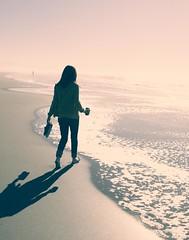(cluneyphoto.com) Tags: sanfrancisco light sky sun beauty grass hoodie crossprocessed sand footprints redhead oceanbeach wife filigree canon2470mml canonl canon2470mm28 canon50d beachandconfabulation