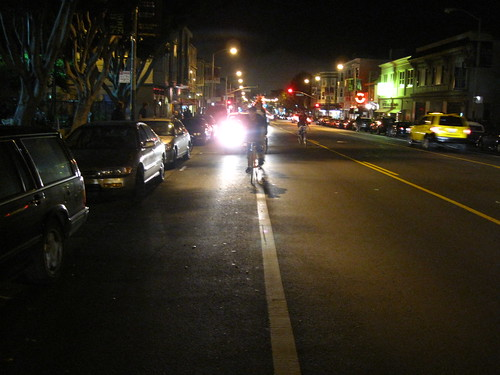 Bike light lane.