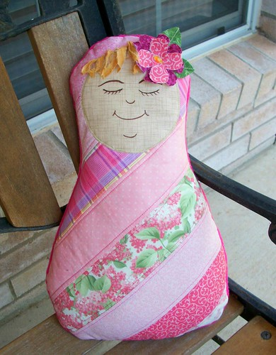 Apple Blossom Baby Doll PIllow