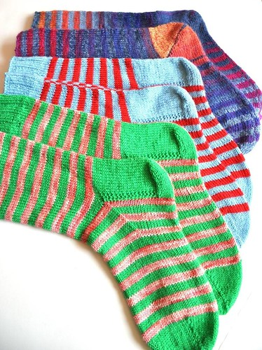 3 pairs of burning stripes socks done-2