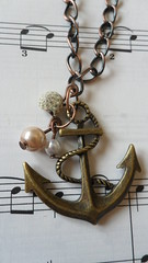 Handmade Anchor Necklace (thesparklyspongex) Tags: summer beach bronze boat necklace seaside handmade shell anchor pearl sailor ahoy handmadejewellery handmadenecklace antiquestyle nautial
