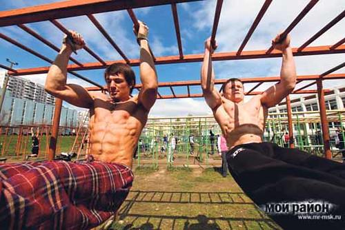 Московские физкультуристы