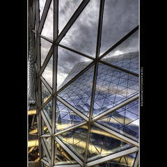 Frankfurt: Inside the glass wave (Bas Lammers) Tags: cloud skyline architecture modern skyscraper canon germany deutschland colorful euro frankfurt wideangle colourful uitzicht 1022mm hdr architectuur kleurrijk groothoek 50d mygearandme mygearandmepremium mygearandmebronze mygearandmesilver mygearandmegold mygearandmeplatinum mygearandmediamond