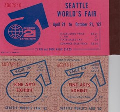 Fine Arts Exhibit Tickets - 1962 Seattle World's Fair (The Pie Shops Collection) Tags: seattle vintage tickets washington booklet voucher 1962 worldsfair century21