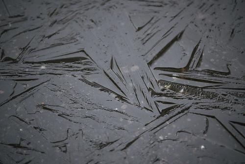 ijskristallen, smeltend ijs