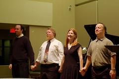 Take a bow 1 (Derek K. Miller) Tags: music singing piano recital victoria 2009 saanich simonjames 50mmf18af joannedavidson