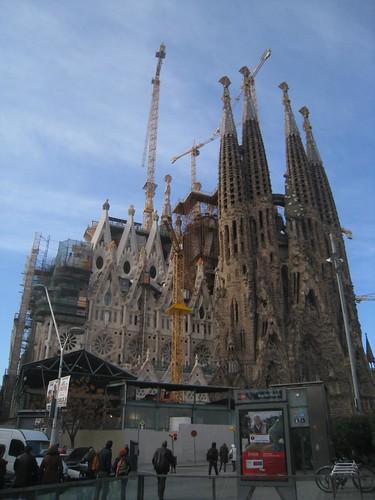 First view of La Sagrada Familia