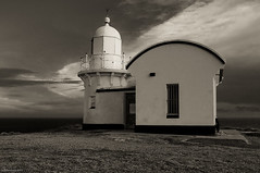 Tacking Point Lighthouse (Visual Clarity Photography) Tags: ocean bw lighthouse geotagged nikon january australia 1870mmf3545g nsw newsouthwales hastings 2009 portmacquarie lightroom d90 nikkor1870mmf3545g tackingpoint nikond90 tackingpointlighthouse geo:lat=31475459 geo:lon=152937211 d90200901246595