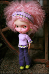 . (jillybug ~) Tags: pink green lilac custom fannie auntiee adad blythestation giftee redflynn dollystoryknitfashion