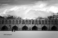 making snowman in Zayandehrood (Alieh) Tags: snow architecture persian snowman iran persia iranian  esfahan isfahan    33pol aliehs alieh       saadatpour snowypeopleproject