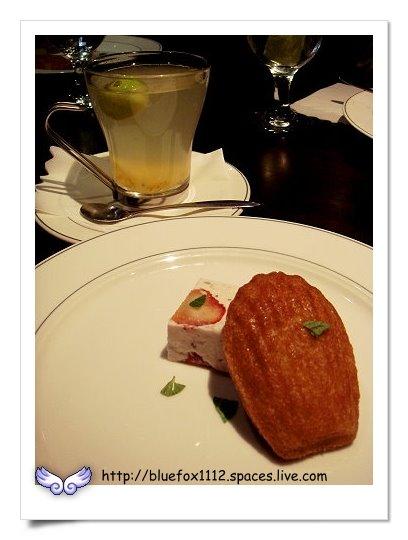 090122阿正廚坊11_瑪德蕾妮&草莓慕斯&金桔茶