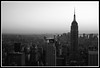 "Above the roofs of New York City - ""the classic shot"" (B&W) (iMool) Tags: new york city nyc newyorkcity blackandwhite white black rockefeller empirestatebuildingbw"