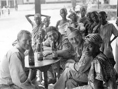 Africa during World War II (gbaku) Tags: world pictures africa old girls 2 two west beer girl club town photo war uniform photos native african stripes military headscarf picture sierra historic 1940s photographs sierraleone photograph ii westafrica tropical afrika historical uniforms anthropologie towns leone forties troops anthropology lager 40s africain afrique africaine westafrican headcloth classicblackwhite afrikas