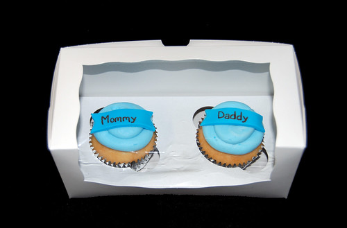 mommy daddy baby shower cupcakes