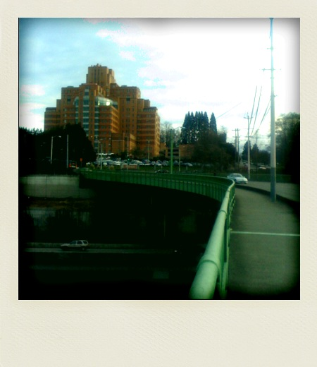A ghostly Polaroid-style view of the Jose Rizal bridge and Amazon/Pac Med. Photo by wakx uy.