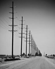 powerlines (spiggycat) Tags: california vacation blackandwhite bw line powerlines saltonsea perpective