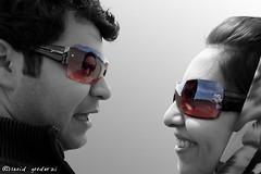 (saeid.goodarzi) Tags: boy portrait blackandwhite man reflection love girl face sunglasses canon persian women asia iran persia iranian  esfahan edit                eos1000d