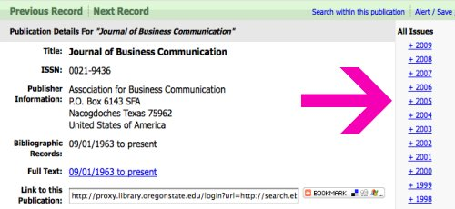 screenshot of EBSCO