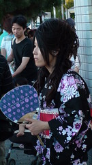 Kyoto woman in yukata robe