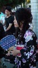 Kyoto woman in yukata robe