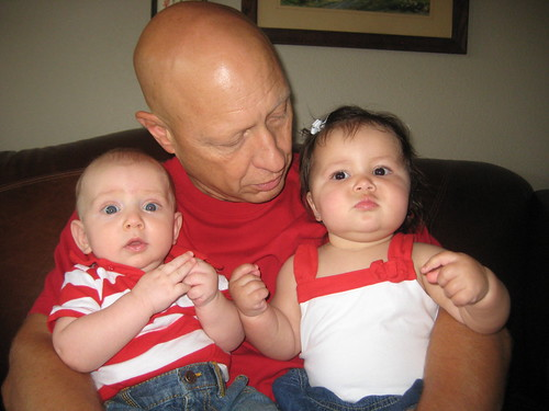 Akif, Grandpa, and Maddy on the 4th