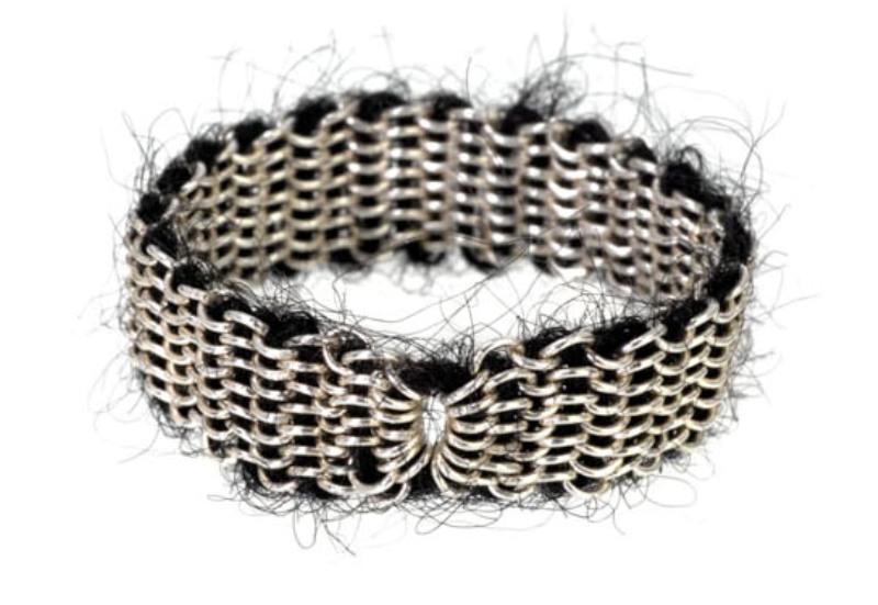 Stephanie Schneider chain mohair bracelet