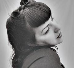 Victory Curls (horriblecherry) Tags: vintage hair rockabilly iranian burlesque peircing alternative highpass bettypage septumpiercing vorfas victorycurls
