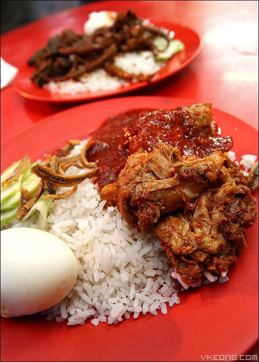 nasi-lemak-ayam rendang